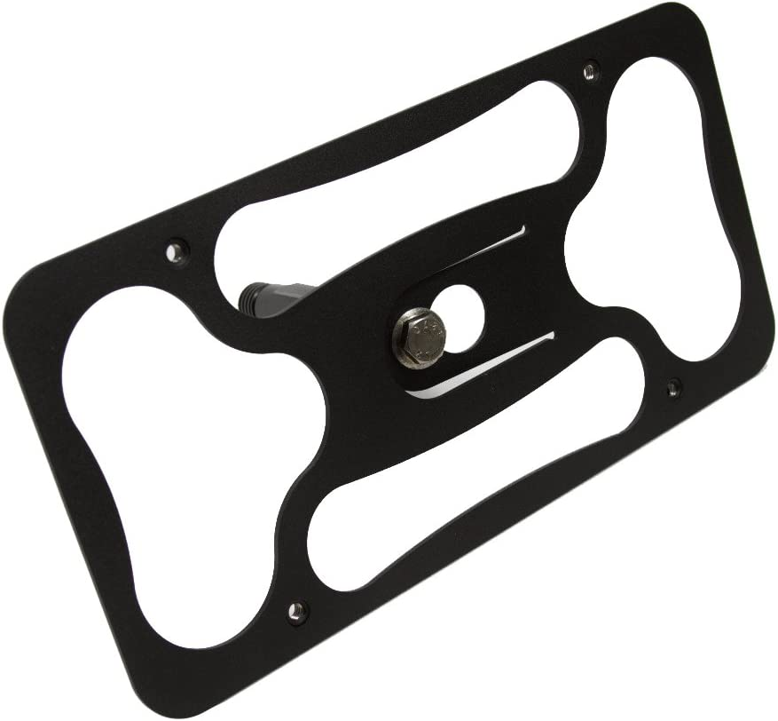 CravenSpeed Platypus License Plate Mount for Alfa Romeo Giulia | 2017-2020 | No Drilling | Installs in Seconds | Made of Stainless Steel & Aluminum | Made in USA