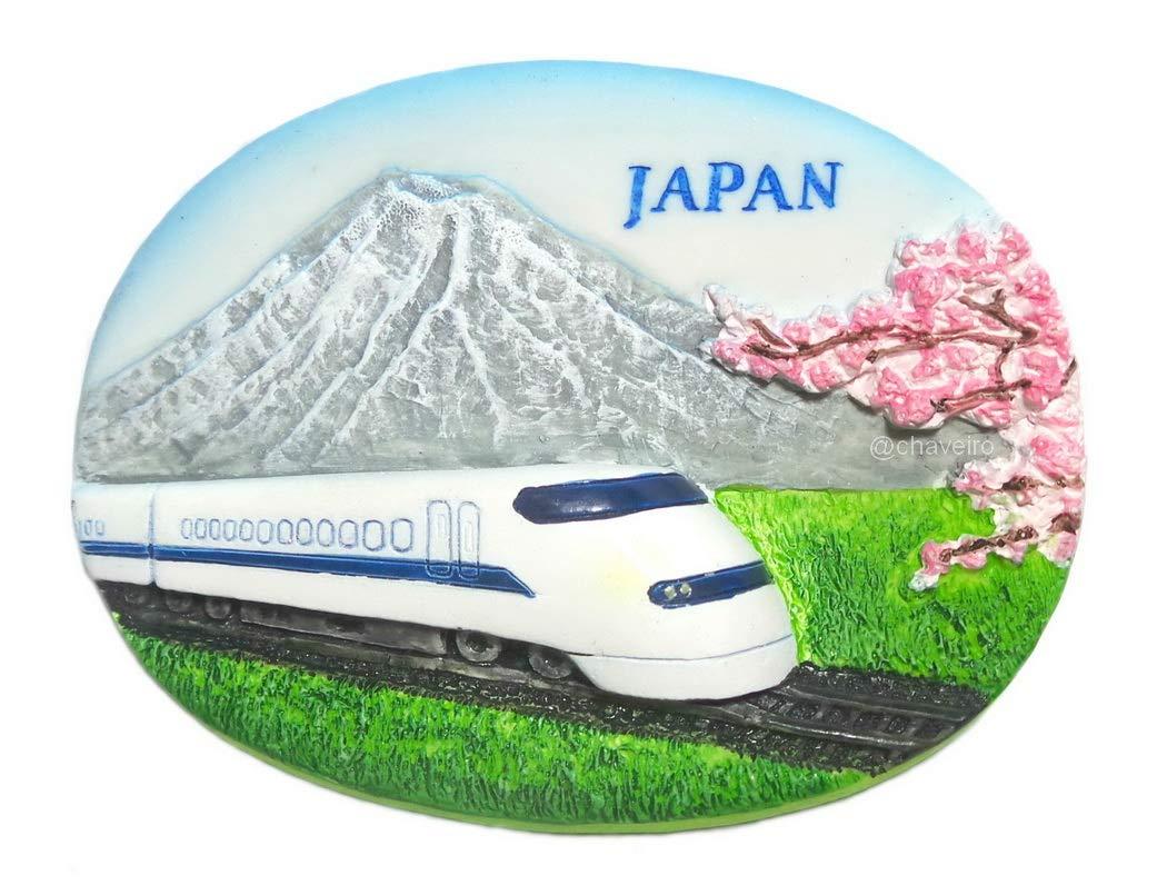 Bullet Train Mt Fuji,Collectible Crafts Souvenir Resin 3D Fridge Magnet