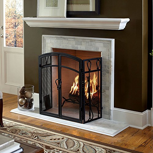 "Colton 60"" White Fireplace Mantel Shelf"