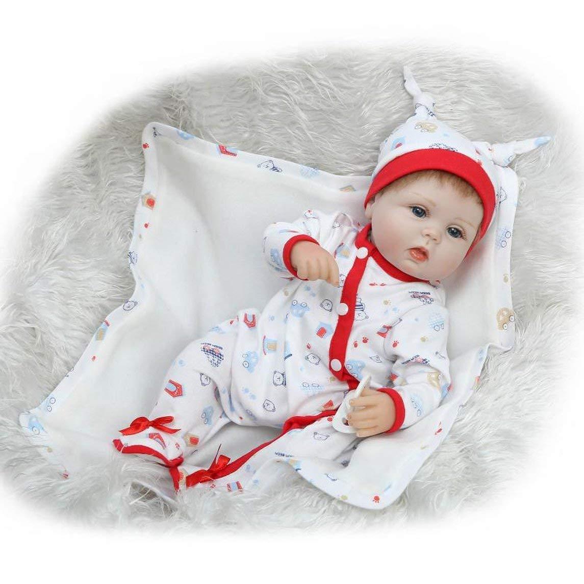 Footprintes 16 Pulgadas Juego de los niños Juguetes Baby Doll Playmate Regalo Juguetes no tóxicos de Seguridad Body Cloth Baby Doll Suave recién Nacido Baby Doll