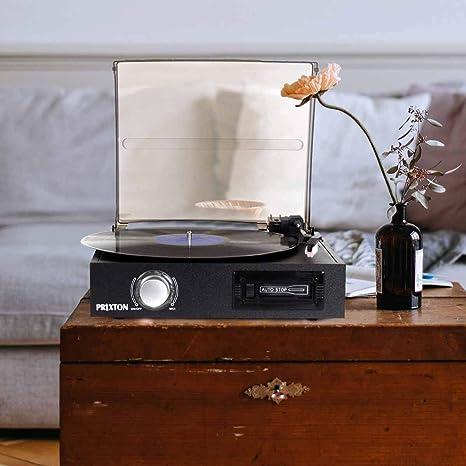 PRIXTON VC300 - Tocadiscos de Vinilo Vintage con Bluetooth ...