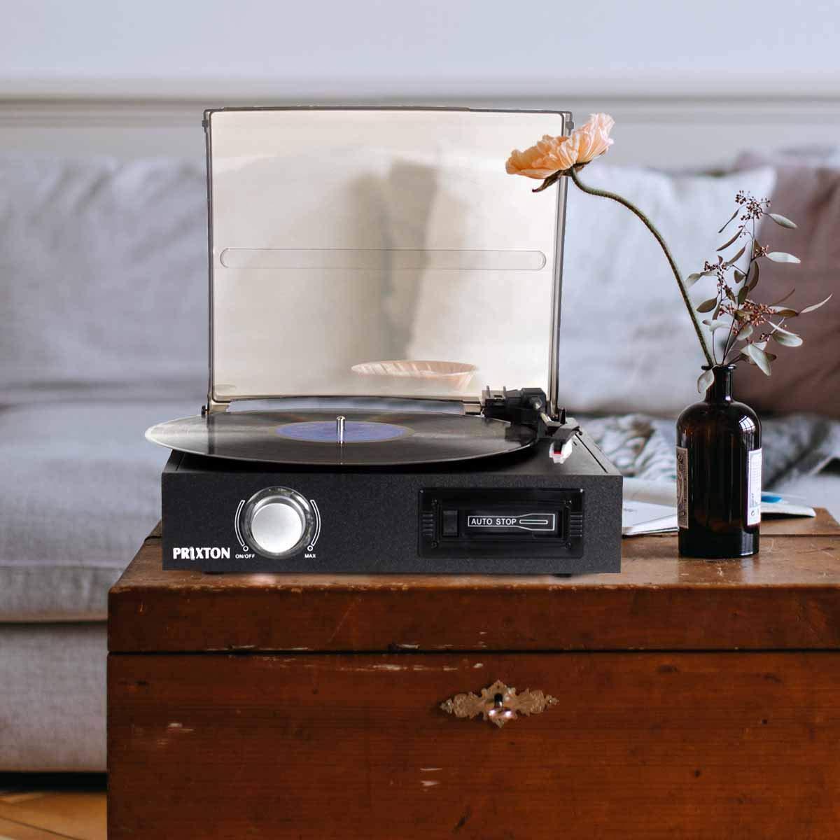 PRIXTON VC300 - Tocadiscos Vintage de Vinilos con Lector USB y ...