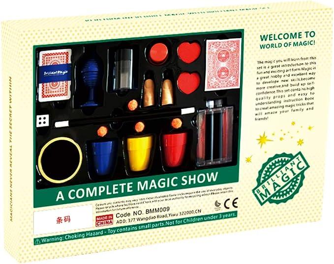 Elisona-Amazing Illusionist Key Mystery Magic Trick Props Folding Key Thru Bottle or Ring Penetration Magic Joke Toy Easy to Play for Kids Party Show