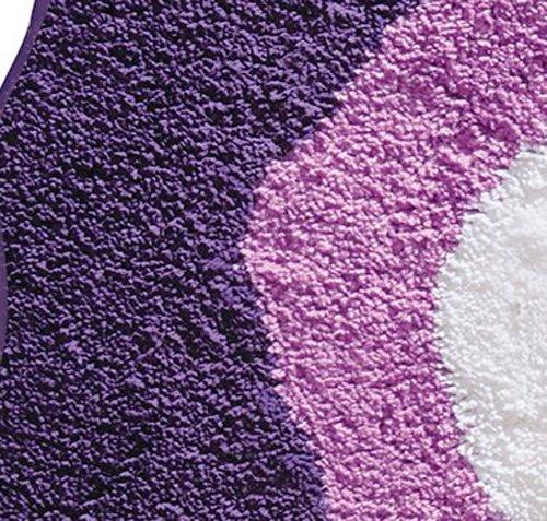 InterDesign Design Poppy Rug, Purple, 26 Inch