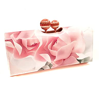 939e7bb75f9e NEW Genuine TED BAKER Large Nude Pink Porcelain Rose Leather Purse Wallet -  Gift Boxed  Amazon.co.uk  Clothing