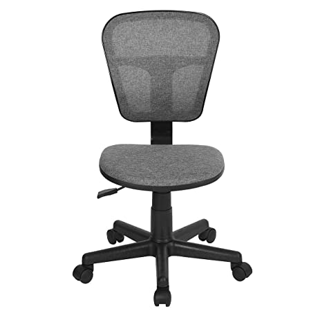 Ergonomical Mid Back Computer Desk Chair For Kids Teens Gaming Studying  (Grey)