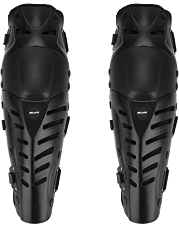 4b5be650bc GuTe Knee Pads, Black Adjustable Long Leg Sleeve Gear Crashproof Antislip Protective  Shin Guards for