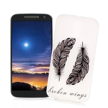 XiaoXiMi Carcasa Motorola Moto G4/G4 PLUS Funda Luminosa de Silicona Caucho Gel para Motorola Moto G4/G4 PLUS Soft TPU Silicone Case Cover Carcasa ...