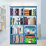 eshion Bookcase 4 Shelf Bookshelf Adjustable Furniture Storage Shelving Book For Sale