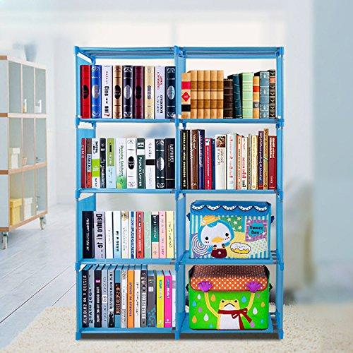 eshion Bookcase 4 Shelf Bookshelf Adjustable Furniture Storage Shelving Book by eshion