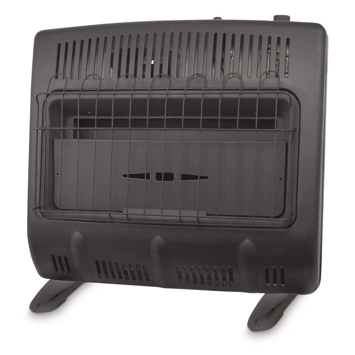 Mr. Heater 30,000-BTU Vent-free Blue Flame Propane Heater, Black by Mr. Heater