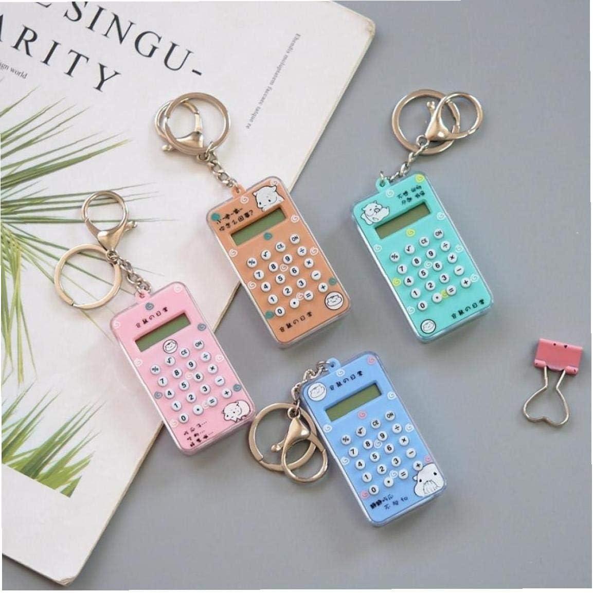 PiniceCore Pocket Mini Calculator Keychain 8 Digits Display School Calculadora Portable with Mini Maze random Color