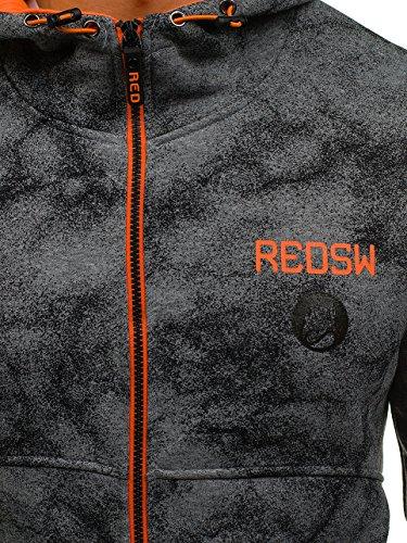 Sweatshirt Sportif Bolf Fermeture Éclair 1a1 Style Gris Capuche w1566 Homme fgwFU