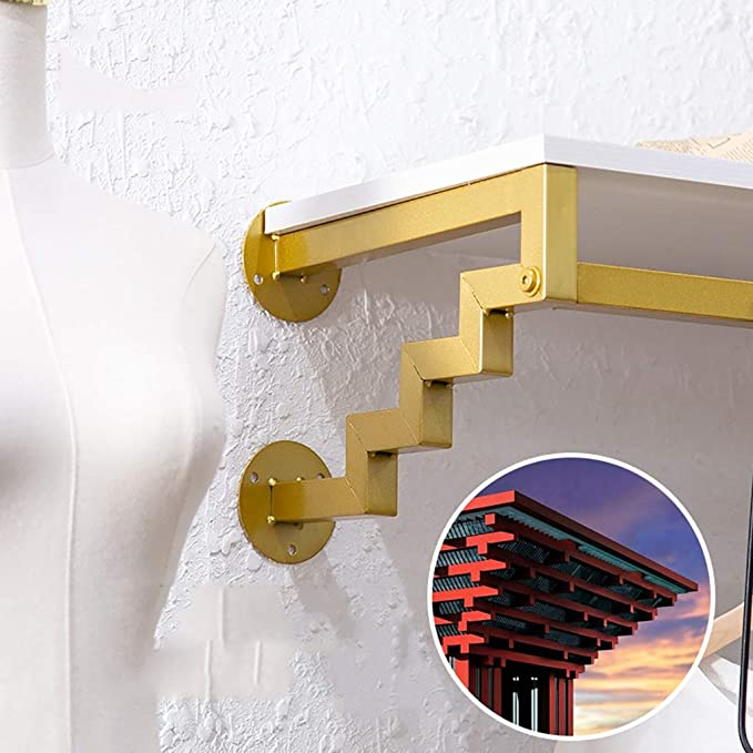Amazon.com: Perchero dorado para colgar en la pared con ...