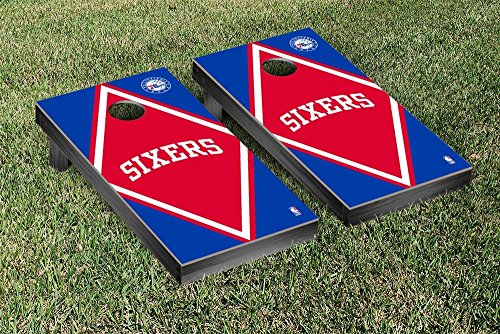 Philadelphia Sixers 76ers NBA Basketball Cornhole Game Set Diamond Version by Victory Tailgate