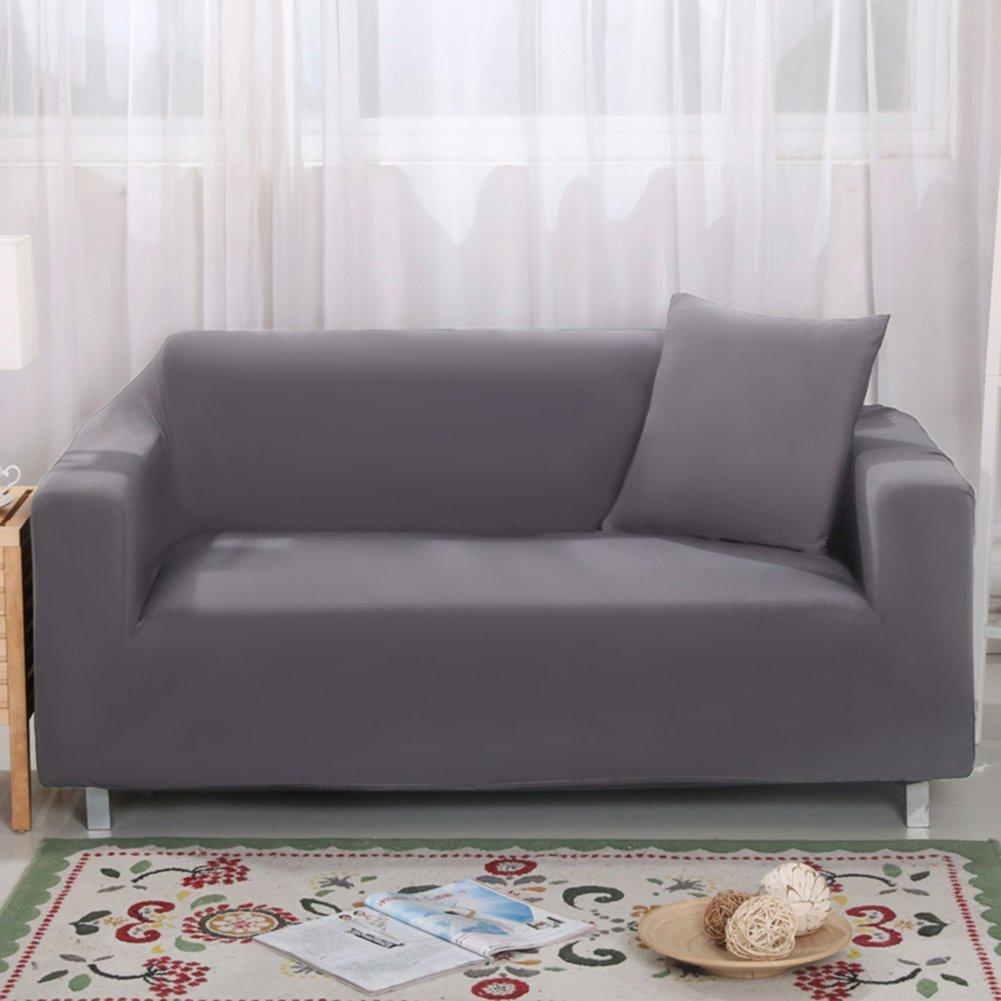 Housse pour canap/é 2/places 7/couleurs en tissu /élastique doux