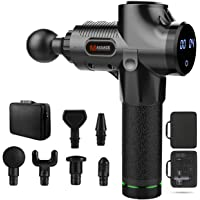 Muscle Massage Gun,Vibration Deep Tissue Wireless Handheld Electric Body Massager Handheld, 30 Speed Level, LED Touch…