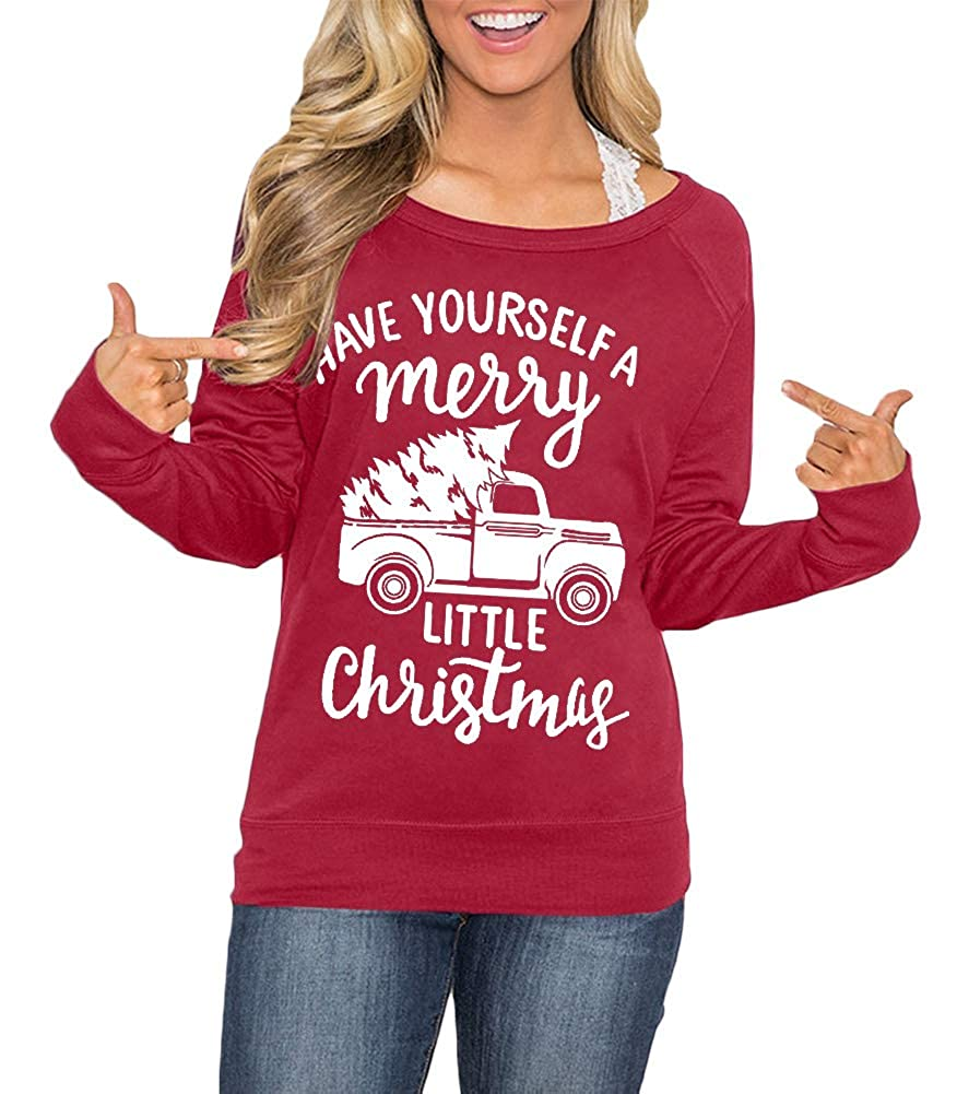 Spadehill Christmas Women's Raglan Long Sleeve Graphic Shirt