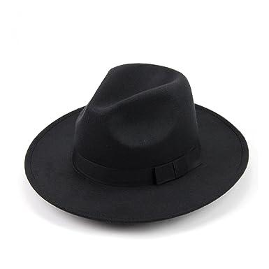 24c7a700c540f OULII Sombrero clásico de lana estructurada unisex Fedora Sombrero solar  sombrero de vaquero para hombres mujeres