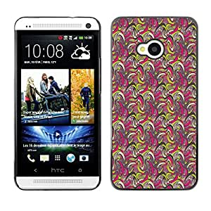 ZECASE Funda Carcasa Tapa Case Cover Para HTC One M7 No.0000708