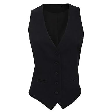 3e895fa435b Brook Taverner - Gilet Tailleur à 5 Boutons - Femme  Amazon.fr  Vêtements  et accessoires