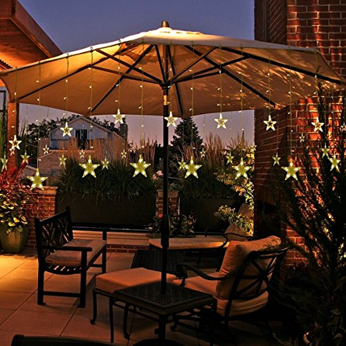 Star Curtain Lights Christmas Decorations String Lights Modes - Curtain lights for bedroom