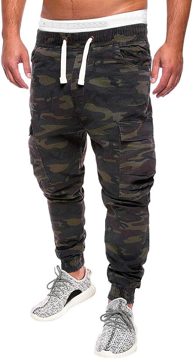 Mens Denim Jeans Cargo Combat Work Wear Chino Stretch Elasticated Waist Pants