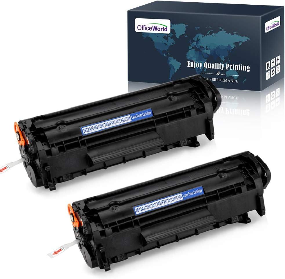 OfficeWorld Compatible 12A Toner Cartridge Replacement for HP 12A Q2612A Toner Cartridge (2 Black), Compatible for HP Laserjet 1020 1012 1022 1010 1018 1022n 3015 3030 3050 3052 3055 M1319F Printer