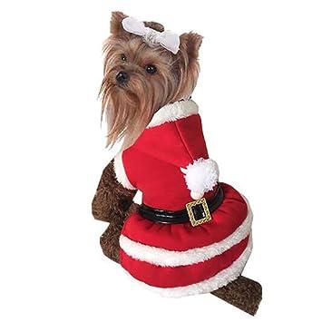2bc6589a0cc43 Robe de Noël Chien de Systond Costume pour animaux de compagnie Vêtements  de Noël de chat Habillement Chiot Manteau ...