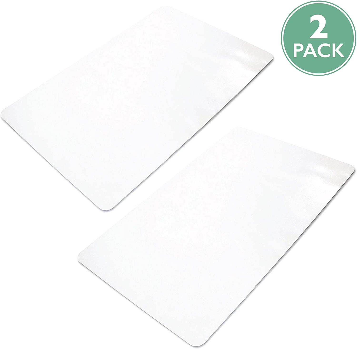 2 Pack Office Chair Mats for Hard Floors 36 x 48 - Clear Hardwood Mats for Desk Chairs