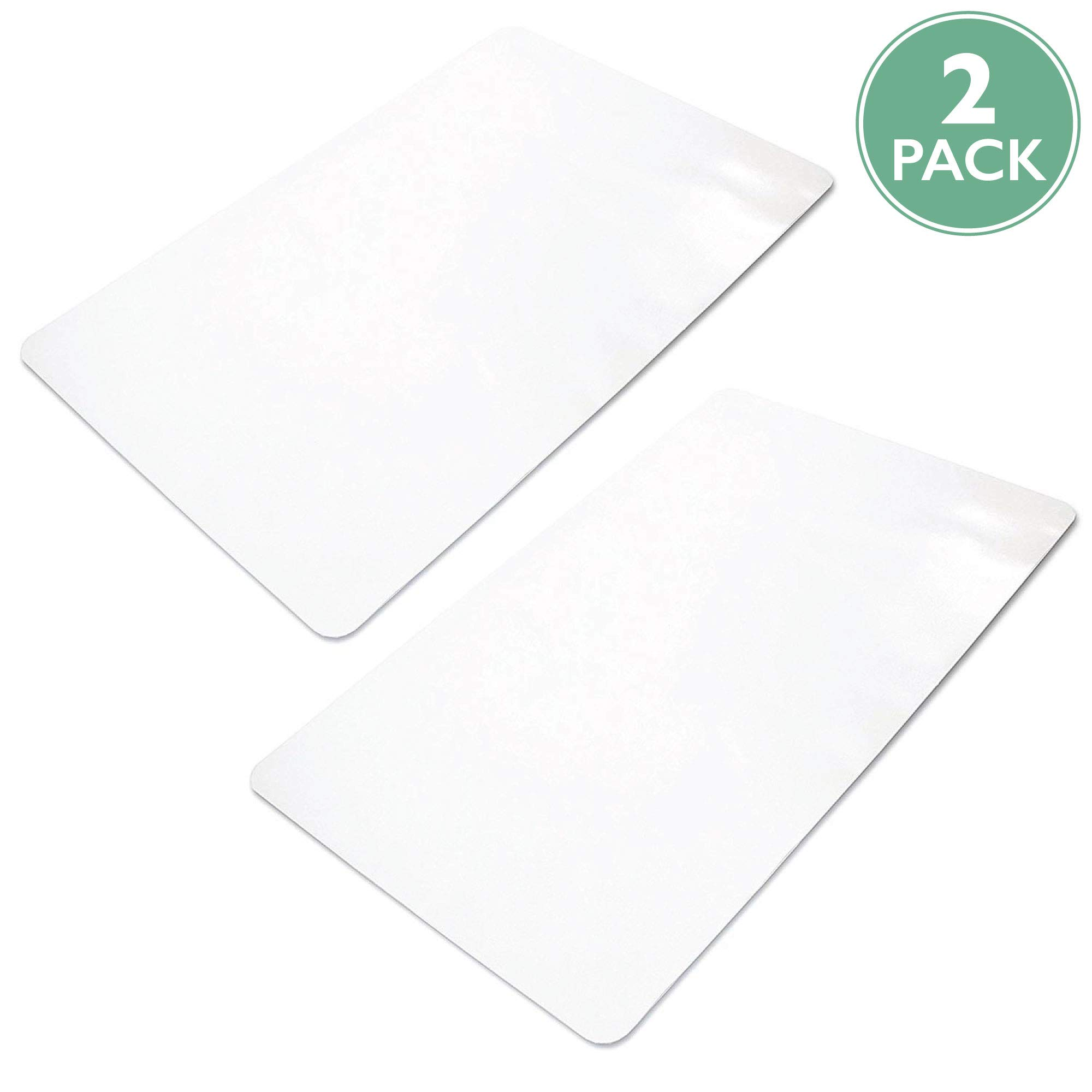 2 Pack of Office Chair Mats for Hardwood Floors 36 x 48 - Floor Mat for Desk Chairs by Ilyapa