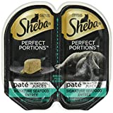 SHEBA PERFECT PORTIONS Seafood Entrée Wet Cat Food Trays 2.6 Ounces (24 Twin Packs)