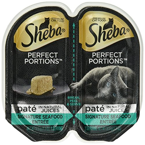 SHEBA PERFECT PORTIONS Seafood Entrée Wet Cat Food Trays 2.