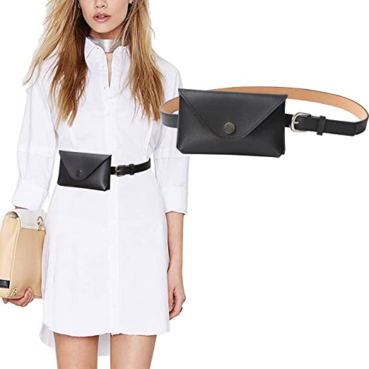 bee782ae6e8 JASGOOD Womens Leather Belt Fanny Pack with Removable Belt Tassel Waist  Pouch Fashion Belt Bags