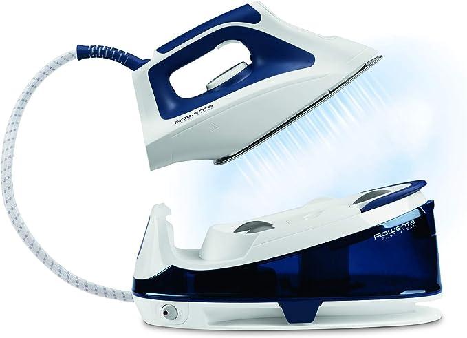 Rowenta VR7040F0 2200W 1.2L Stainless steel soleplate Azul, Color blanco estación plancha al vapor - Centro de planchado (2200 W, 5,2 bar, 1,2 L, 100 g/min, Stainless steel soleplate, Azul, Color blanco): Amazon.es: Hogar