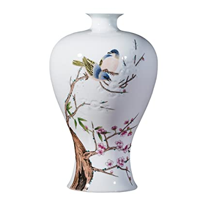 Porcelana XIAOYAN Jarra cerámica Antigua con Maestros Flores de Ciruelo pintadas a Mano Jingdezhen Pastel de