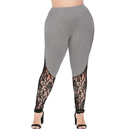 ღLILICATღ Pantalones Yoga Mujer,Pantalones Encaje Talla ...