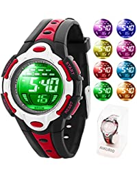 Children's Digital Watch 50M Waterproof with Rubber Strap...