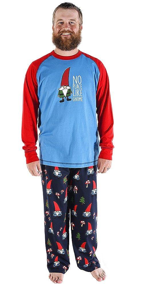Large Pajama Bottom for Men No Place Like Gnome Mens Mens Pajama Pants Bottom by LazyOne