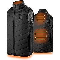 GREAHWD Chaleco calentador, fuente de alimentación USB, chaqueta calentadora ligera y ajustable para hombres y mujeres…
