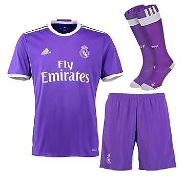 brand new c609f 47b4b REAL MADRID FC AWAY KIT CHILDREN`S REAL MADRID PURPLE SHIRT ...