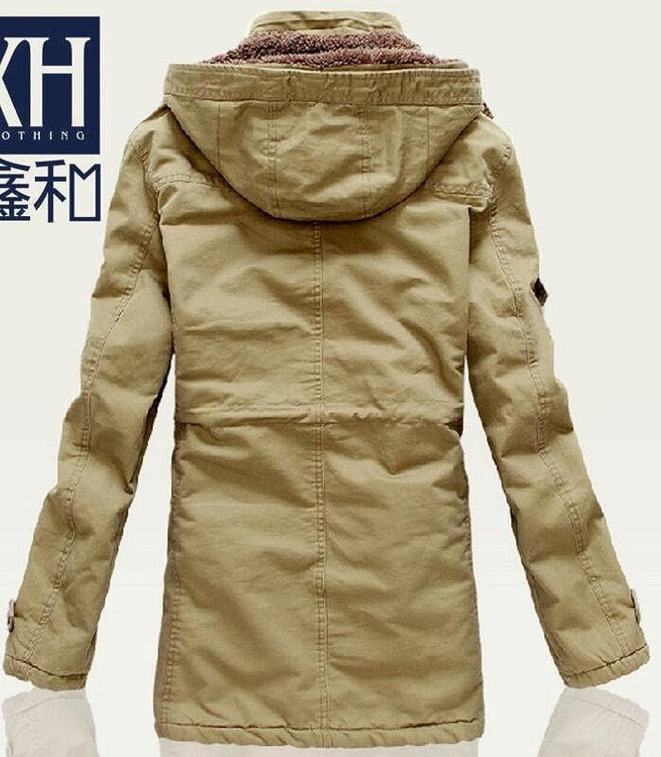 xtsrkbg Men Big and Tall Fleece Hoodies Padded Coat Thicken Parka Outwear