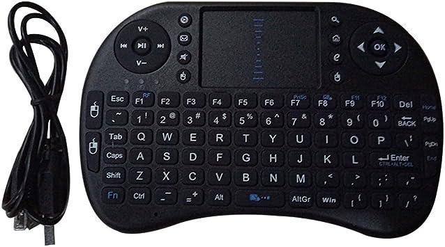 Mini teclado inalámbrico, Tsing KODI XBMC inalámbrico de 2,4 G Mini Teclado Ratón Combo con