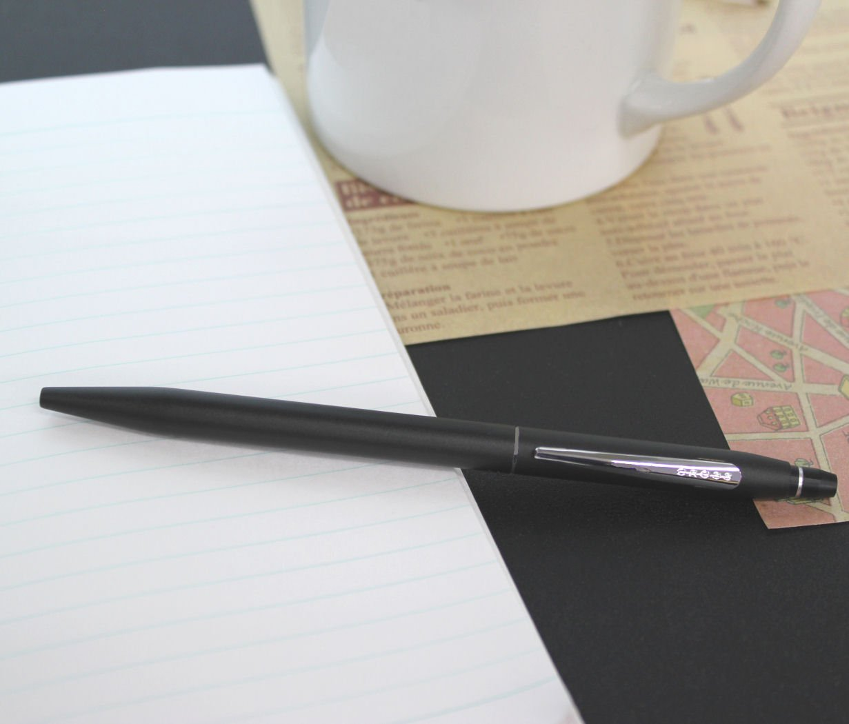 Cross Click Classic Black Ballpoint Pen with Chrome Appointments and Bonus Slim Gel Refill by Cross (Image #3)