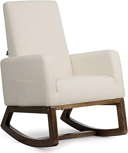 Giantex Rocking Chair Upholstered Living Room Chair