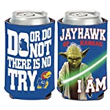 WinCraft Kansas Jayhawks Official NCAA 4 inch Star Wars Yoda Insulated Coozie Can Cooler by 158116