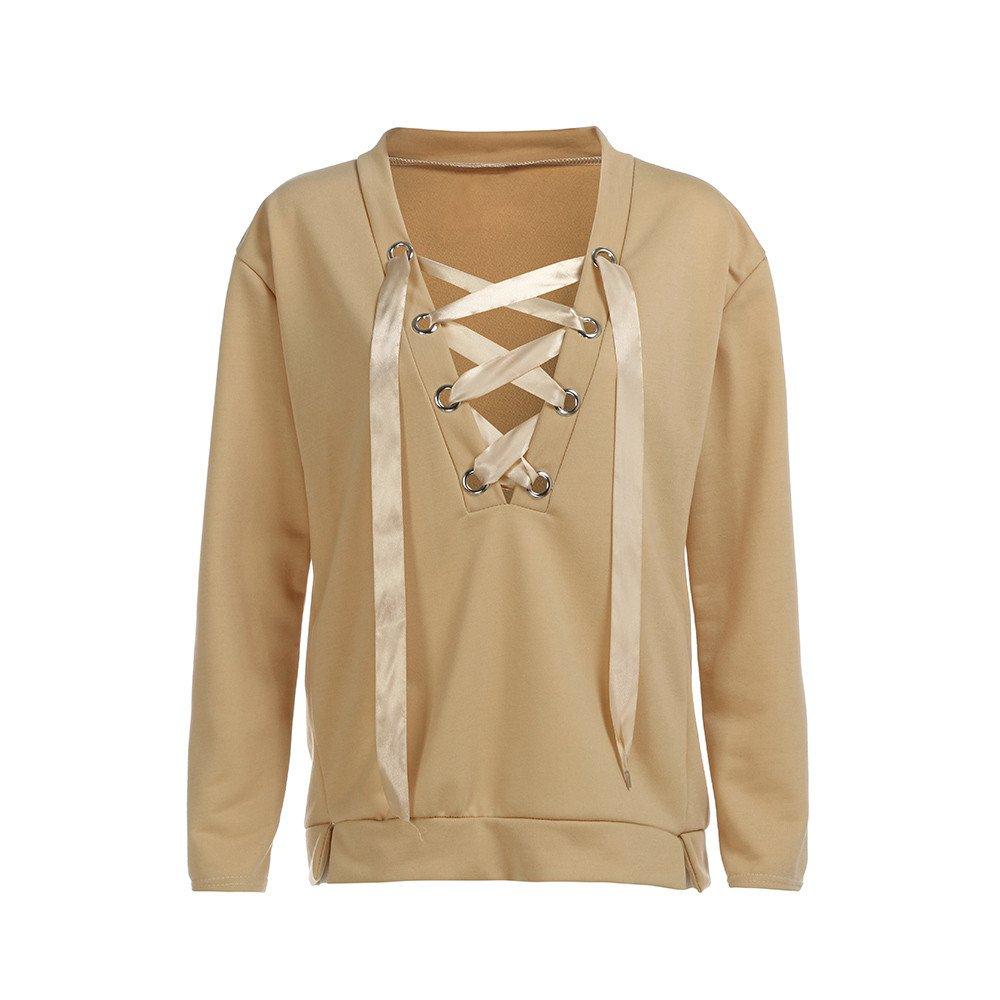 Milktea Kapuzenpullover Sweatshirt Damen Pullover Hoodie Casual Tops  Rundhals Sweatshirts Pullover Langarmshirts  Amazon.de  Bekleidung 106143e6f1