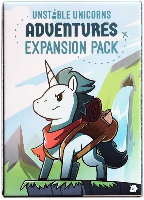 TeeTurtle Unstable Unicorns Adventures Expansion Pack - Designed to be Added to Your Unstable Unicorns Card Game