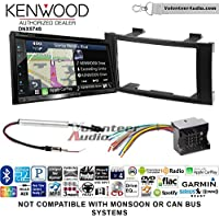 Kenwood DNX574S Double Din Radio Install Kit with GPS Navigation Apple CarPlay Android Auto Fits 2004-2010 Volkswagen Touareg