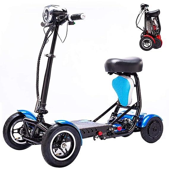 Amazon.com: SZeao - Silla de ruedas plegable eléctrica de ...